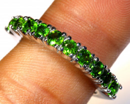 15.65 CTS DIOPSIDE SILVER RING  SIZE- 7 RJ-703