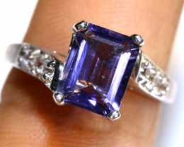 16.35 CTS AMETHYST SILVER RING   RJ-708