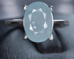 15.24 Crt Natural Grandidierite 925 Silver Ring