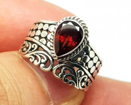 20.95 Carats Natural Garnet 925 Silver Ring Hand Made
