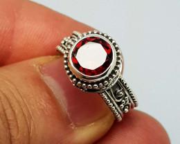 Carats Natural Rhodolite Garnet 23.45 925 Silver Ring