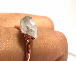 Crystal Raw Beautiful terminated Gemstone Copper Ring BR 426