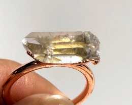 Crystal Raw Beautiful terminated Gemstone Copper Ring BR 429
