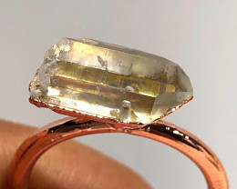 Crystal Raw Beautiful terminated Gemstone Copper Ring BR 430