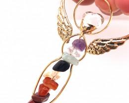 Seven Chakra - natural stones - Angel pendant BR 483