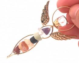 Seven Chakra - natural stones - Angel pendant BR 488