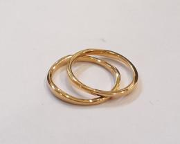 Set 925 Sterling silver rings #9774b