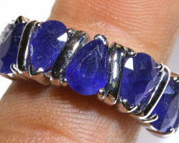 23.85 CTS BLUE SAPPHIRE SILVER RING  RJ-712