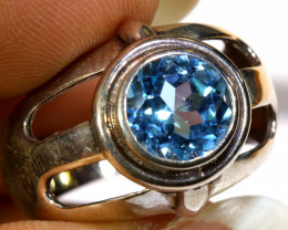 30.45 CTS BLUE TOPAZ SILVER RING  RJ-716