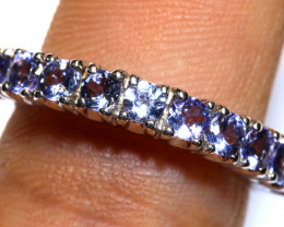 15.25 CTS BLUE SAPPHIRE SILVER RING  RJ-731