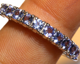 16.35 CTS BLUE SAPPHIRE SILVER RING  RJ-733