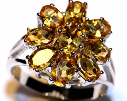 26.25 CTS CITRINE  SILVER RING  RJ-727