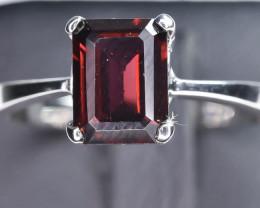 11.13 Crt Natural Rhodolite Garnet 925 Silver Ring