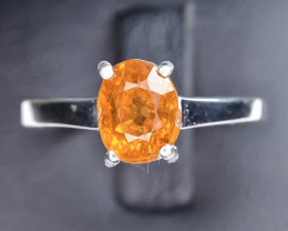 11.15 Crt Natural Spessartite 925 Silver Ring