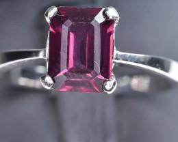 11.18 Crt Natural Rhodolite Garnet 925 Silver Ring