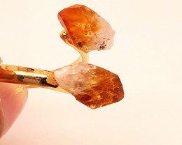 Raw Citrine Double Terminated Points Gemstone Ring BR 539