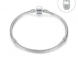 56 Ct  High Quality Silver Color Basic Snake Chain Magnet Clasp for Charm B