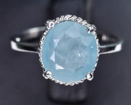 7.57 Crt Natural Grandidierite 925 Silver Ring