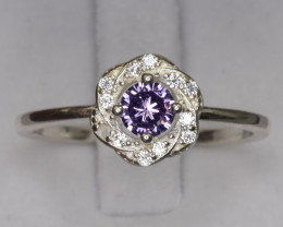 Natural CZ Zircons Ring.