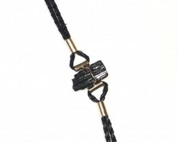 Raw Balck Tourmaline Bracelet BR 2000