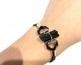Raw Balck Tourmaline Bracelet BR 2003