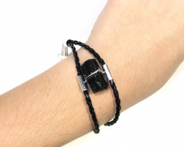 Raw Black Tourmaline Bracelet BR 2004
