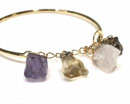 Raw Mutli Gemstone Bracelet  BR 2013