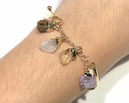 Raw Mutli Gemstone Bracelet  BR 2014