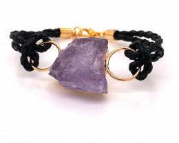 Raw Amethyst Gemstone Bracelet  BR 646