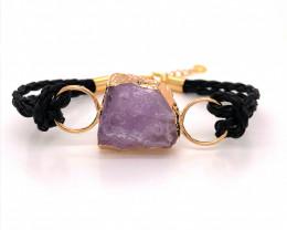 Raw Amethyst Gemstone Bracelet  BR 649