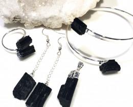 Spiritual black Tourmaline 4 pc  Jewelry Set  BR 2021