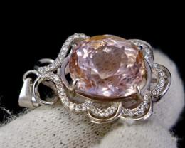29.65 Cts Unheated & Natural ~ Purple Pink Kunzite Silver pendant