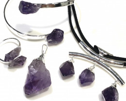 Amethyst lovers   4 Piece Jewelry  Set Br 2065