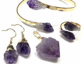 Amethyst lovers  5  Piece Jewelry  Set Br 2069