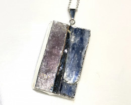 Blue Kyanite and Mica Pendant BR 2079