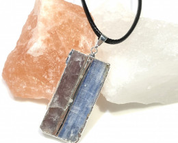 Blue Kyanite and Mica Pendant BR 2081