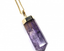 Amethyst Terminated Point Gemstone pendant  BR 2091