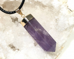 Amethyst Terminated Point Gemstone pendant  BR 2096