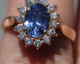 GIA Certified Blue Color Change Sapphire 1.69ct Natural Diamonds Solid 18K
