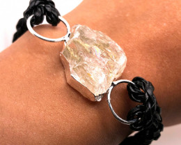 Raw Rock Crystal Bracelet  BR 696