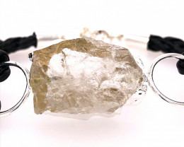 Raw Rock Crystal Bracelet  BR 697