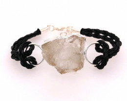 Raw Rock Crystal Bracelet  BR 698