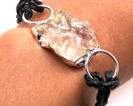 Raw Rock Crystal Bracelet  BR 699
