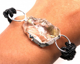 Raw Rock Crystal Bracelet  BR 700