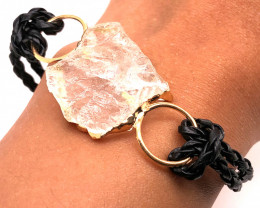 Raw Rock Crystal Bracelet  BR 702
