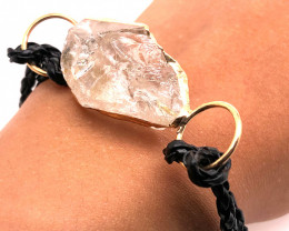 Raw Rock Crystal Bracelet  BR 703