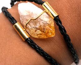 Raw Rock Citrine Bracelet  BR 716