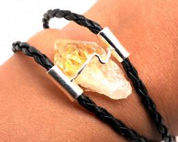 Raw Rock Citrine Bracelet  BR 728