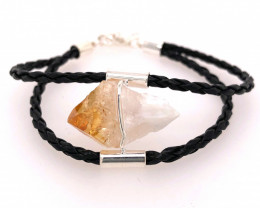 Raw Rock Citrine Bracelet  BR 729
