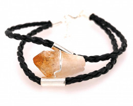 Raw Rock Citrine Bracelet  BR 730